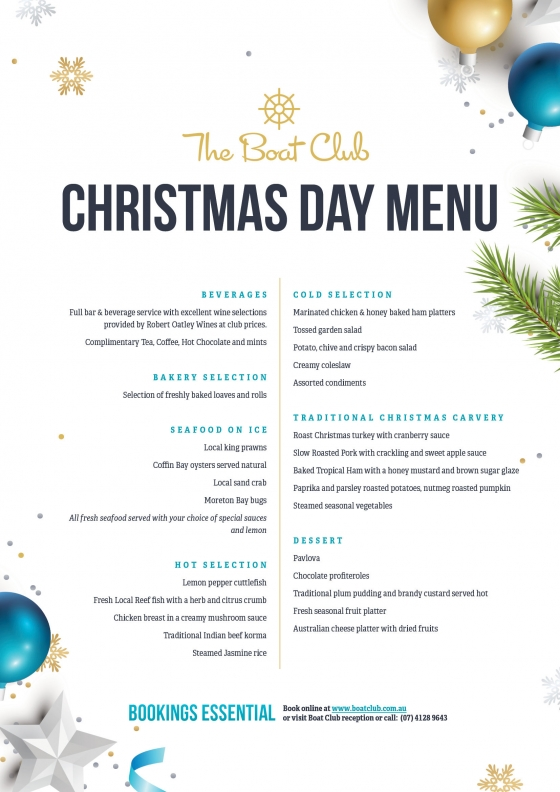 christmas day lunch menu - Christmas Day 2018