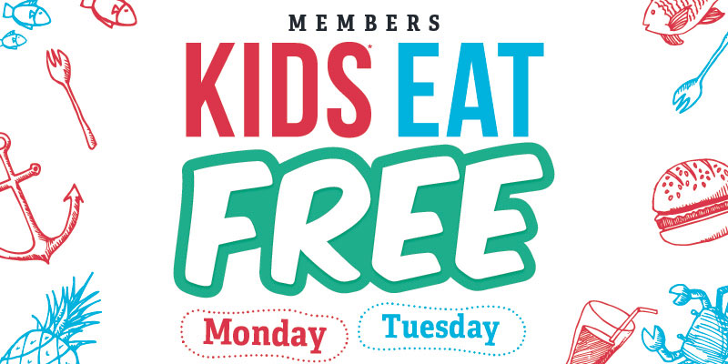kids eat free Monday and Tuesday nights